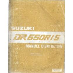Manuel atelier additif SUZUKI DR 650 RN / DR 650 SN de 1992