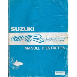 Manuel atelier additif SUZUKI GSX-R 750 WN modèle 1992