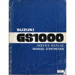 Manuel atelier SUZUKI GS 1000 de 1978