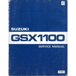 Manuel atelier SUZUKI GSX 1100 de 1980 anglais