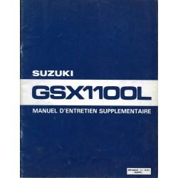 Manuel atelier SUZUKI GSX 1100 L de 1980