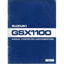 Manuel atelier SUZUKI GSX 1100 X de 1981