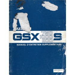 Manuel atelier SUZUKI GSX 750 S / 1000 S / 1100 S de 1982