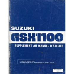 Manuel atelier SUZUKI GSX 1100 S de 1982
