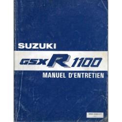 Manuel atelier SUZUKI GSX-R 1100 de 1986