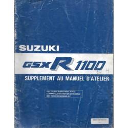 Manuel atelier additif SUZUKI GSX-R 1100 H de 1987