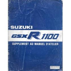 Manuel atelier additif SUZUKI GSX-R 1100 J de 1988