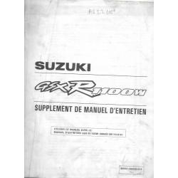 Manuel atelier additif SUZUKI GSX-R 1100 WS de 1995