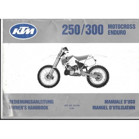 KTM 250-300 Motocross-Enduro 1990