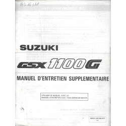 Manuel atelier SUZUKI GSX 1100 GN de 1992