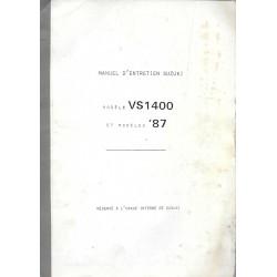 Manuel atelier SUZUKI VS 1400 de 1987