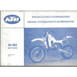 KTM 80 MX Pro-Mini 1986 (Manuel Réparation)