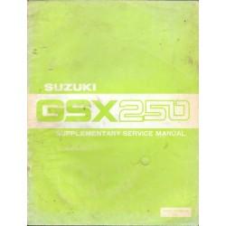Manuel atelier SUZUKI GSX 250 (ADDITIF ANGLAIS)