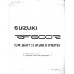 Manuel atelier SUZUKI RF 600 RS modèle 1995