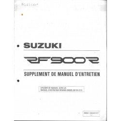 Manuel atelier SUZUKI RF 900 RT modèle 1996