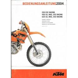 KTM 250 EXC, 450 SX, 525 SX/ MXC modèle 2004
