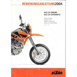 KTM 640 LC4 Enduro et Supermoto modèle 2004