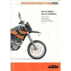 KTM 640 LC4 Enduro et Supermoto modèle 2005