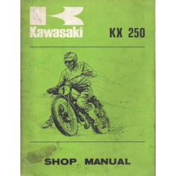 Manuel atelier KAWASAKI KX 250 de 1974