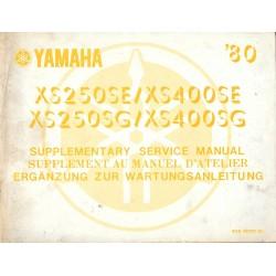 Manuel atelier YAMAHA XS 250 / 400 de 1980