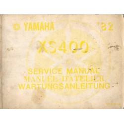Manuel atelier YAMAHA XS 400 de 1982