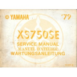 Manuel atelier YAMAHA XS 750 type 3L3
