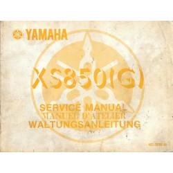 Manuel atelier YAMAHA XS 850 G type 4E2 (02 / 1980)