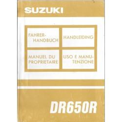 SUZUKI DR 650 R modèle P de 1992