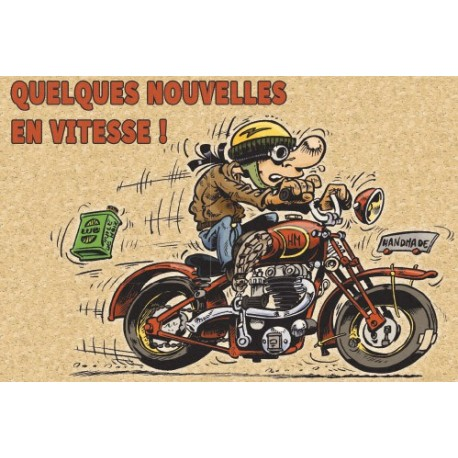 Carte Motocyclettes timbrées 2