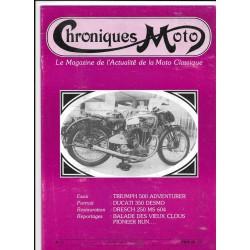 CHRONIQUES MOTO n° 1 JUILLET / AOUT 1987