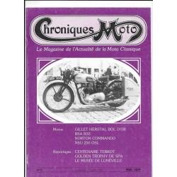 CHRONIQUES MOTO n° 2 SEPTEMBRE / OCTOBRE 1987