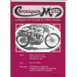 CHRONIQUES MOTO n° 3 novembre : decembre 1987