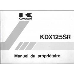 KAWASAKI KDX 125 SR A1 et B1 de 1990