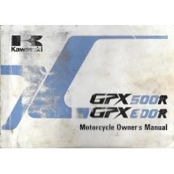 KAWASAKI GPX 500 R / GPX 600 R de 1989 en anglais
