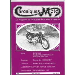 CHRONIQUES MOTO n° 5 MARS /AVRIL 1988