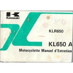 KAWASAKI KLR 650-A modèle 1987