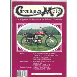 CHRONIQUES MOTO n° 8 SEPTEMBRE / OCTOBRE 1988