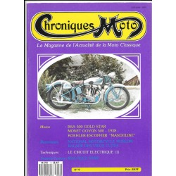 CHRONIQUES MOTO n° 9 NOVEMBRE / DECEMBRE 1988