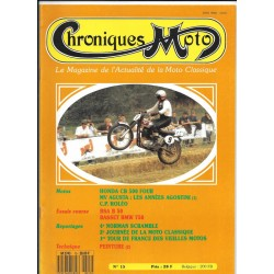 CHRONIQUES MOTO n° 15 NOVEMBRE / DECEMBRE 1989