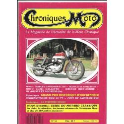 CHRONIQUES MOTO n° 16 JANVIER / FEVRIER 1990