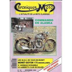CHRONIQUES MOTO n° 23 NOVEMBRE 1990