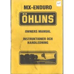 Manuel utilisation et entretien mono-amortisseur OHLINS (08 /1993)