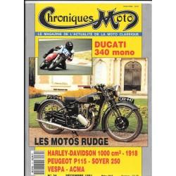 CHRONIQUES MOTO n° 34 DECEMBRE 1991