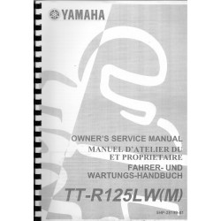 YAMAHA TT-R 125 LW (M) type 5HP modèle 2000