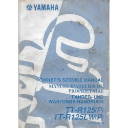 YAMAHA TT-R 125 LW (P) type 5HP modèle 2002