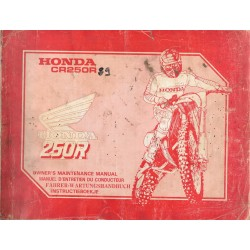 HONDA CR 250 R type KZ3 de 1989