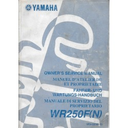 YAMAHA WR 250 F (N) de 2001 type 5PH