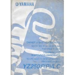 YAMAHA YZ 250 F (P) / LC type 5SG de 2002
