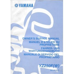 YAMAHA YZ 250 F (W) type 5XC de 2007