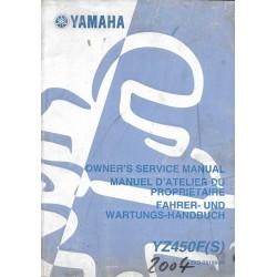 YAMAHA YZ 450 F (S) type 5XD de 2004